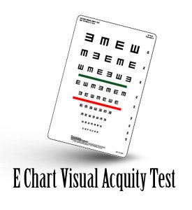 Visual Acquity Test with E Chart