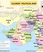 Gujarat State Map